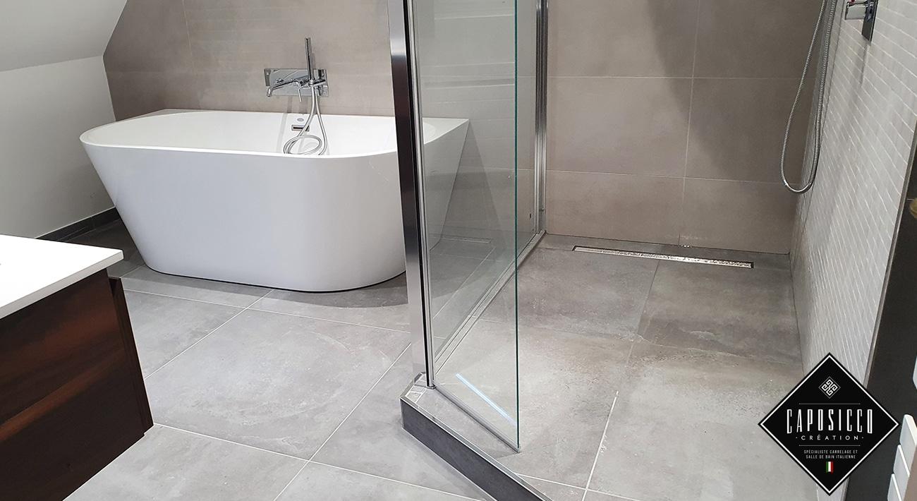 Création d'une salle de bain intégrale